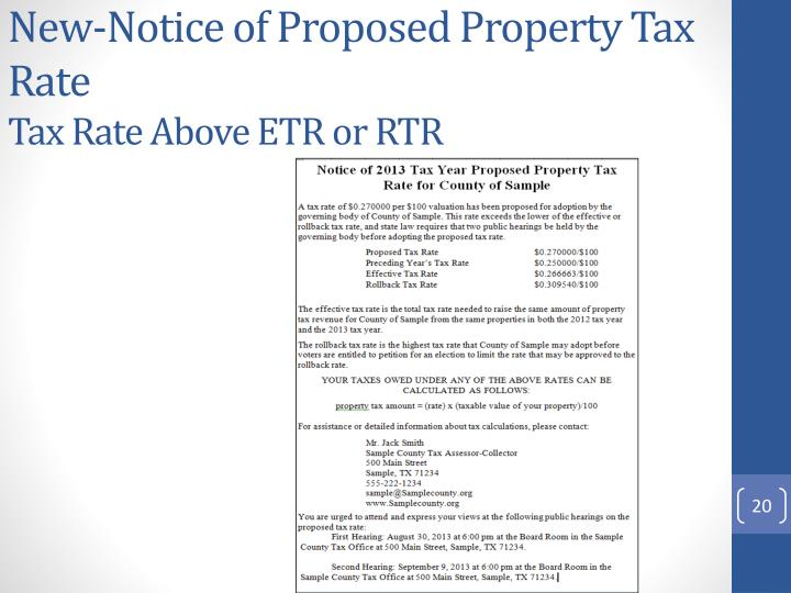 New-Notice of Proposed Property Tax Rate