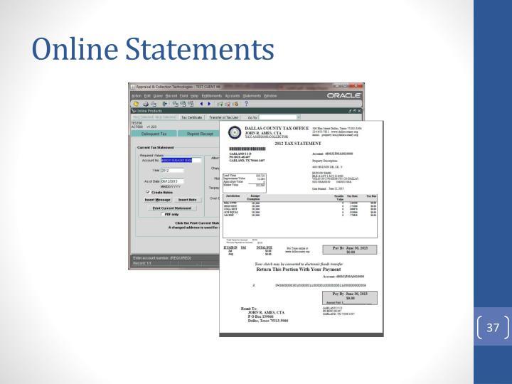 Online Statements
