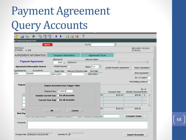 Payment Agreement