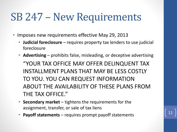 SB 247 – New Requirements