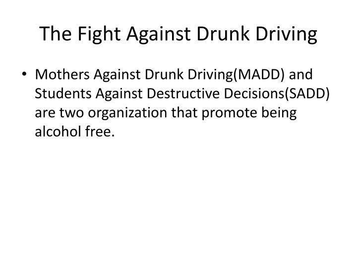 the organization of mothers against drunk drivers madd essay Reviews from mothers against drunk driving (madd) employees about mothers  against drunk driving  review summary  this was a great stepping stone in  my career, i value all of my experience i have learned from this organization.