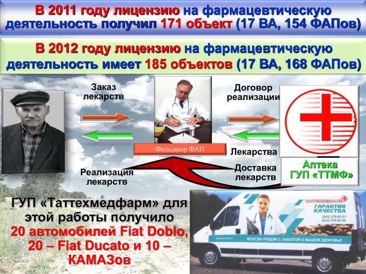 В 2011 году лицензию