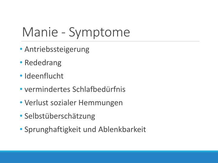 Manie - Symptome