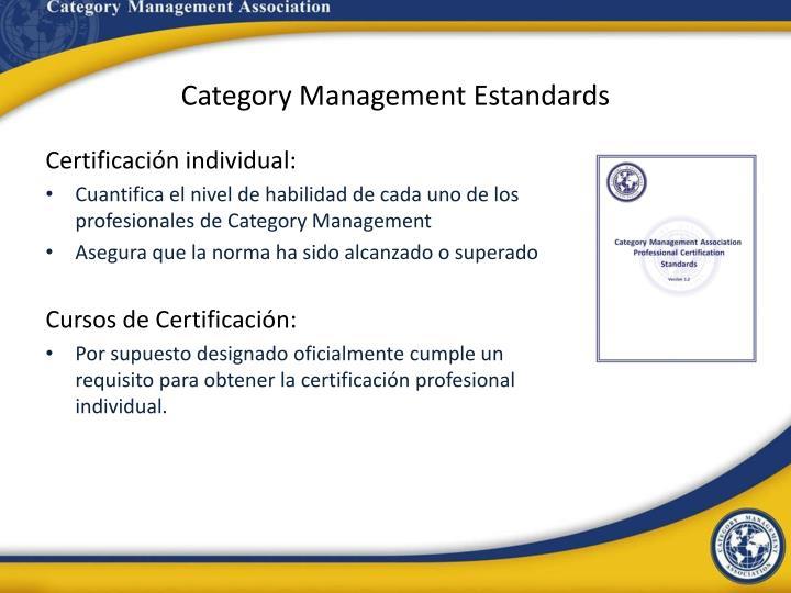 Category Management Estandards