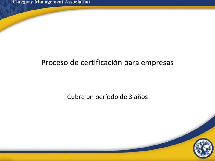 Proceso de certificación para empresas