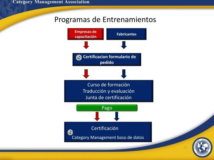 Programas de Entrenamientos