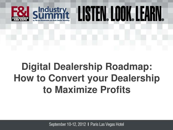 Digital Dealership Roadmap: