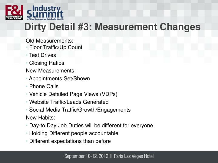 Dirty Detail #3: Measurement Ch