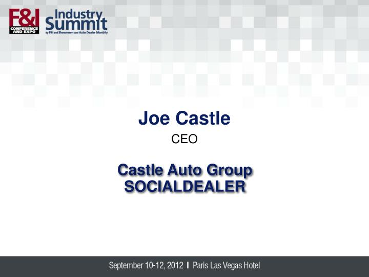 Joe Castle