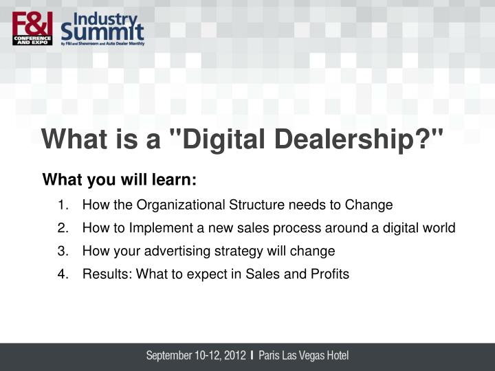 "What is a ""Digital Dealership?"""