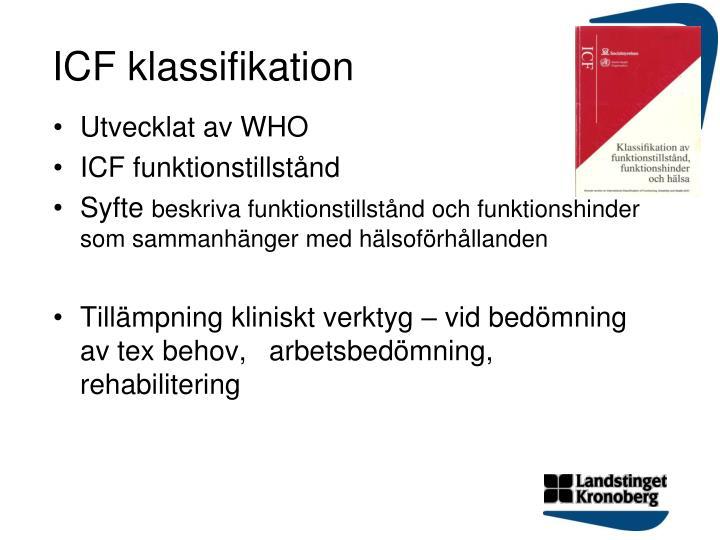 ICF klassifikation