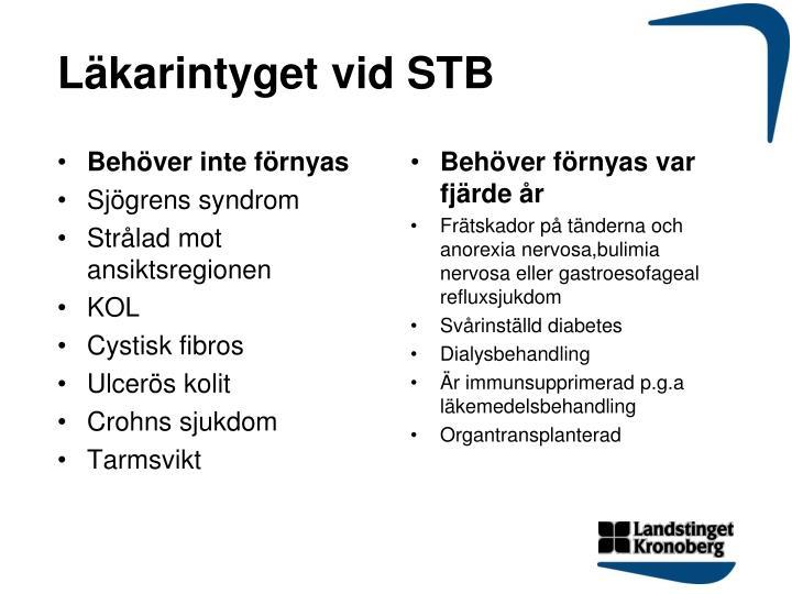 Läkarintyget vid STB