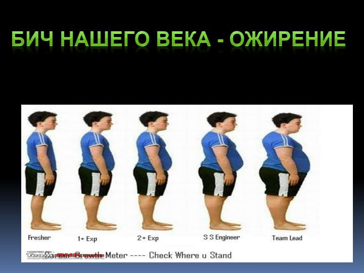 Бич нашего века - ожирение