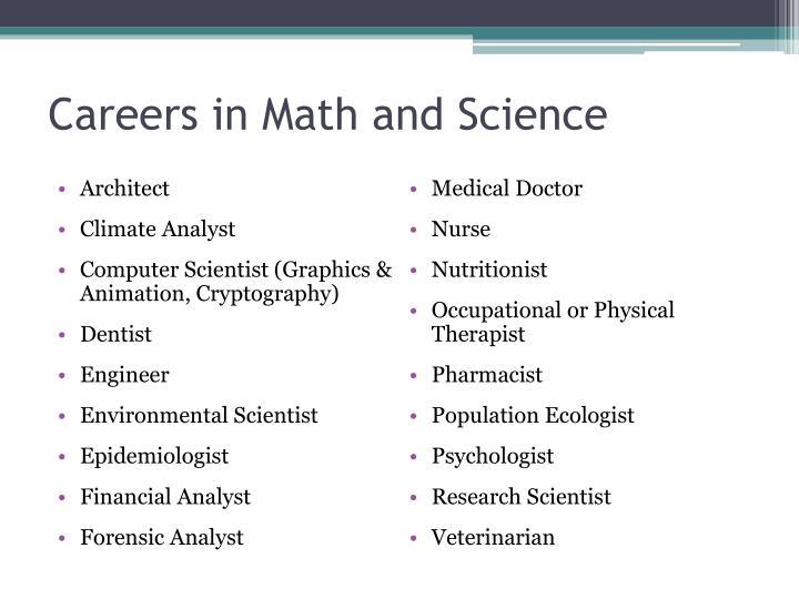 Careers in Math and Science