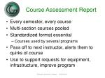 course assessment report1