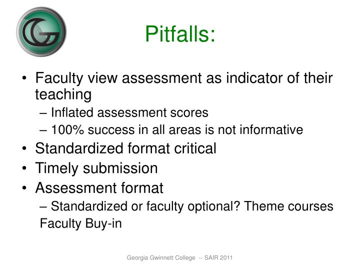 Pitfalls: