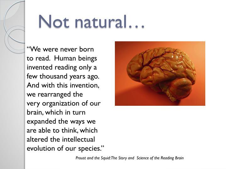Not natural…