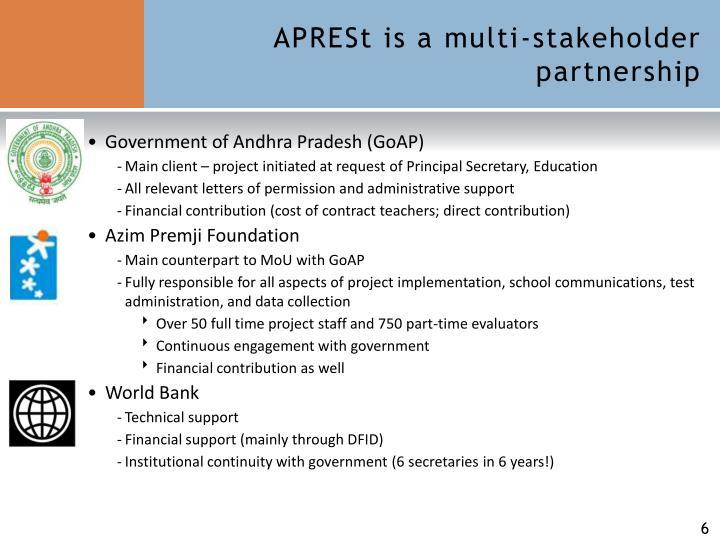 APRESt is a multi-stakeholder partnership