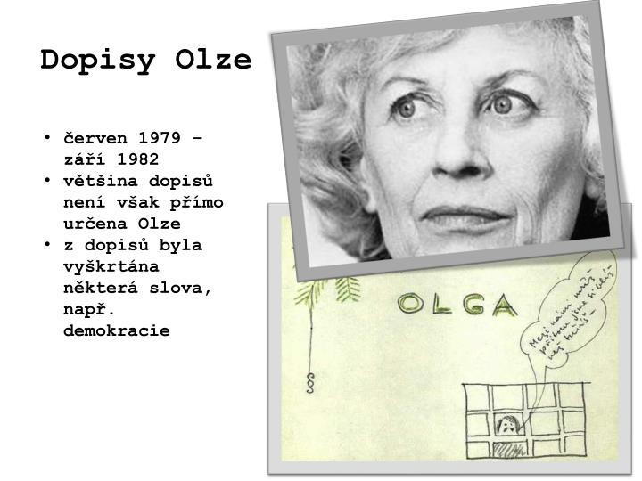Dopisy Olze