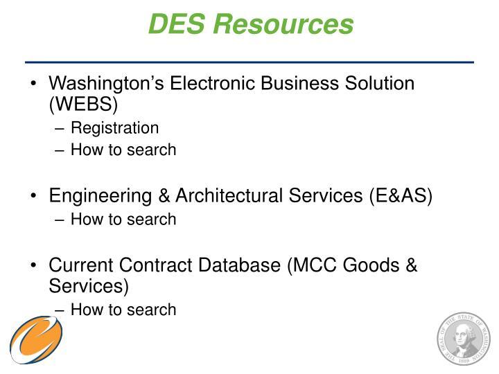 DES Resources