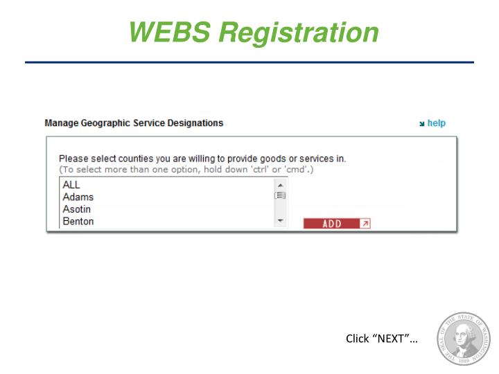 WEBS Registration