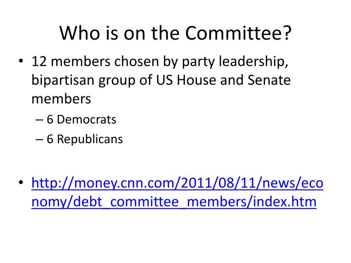 Who is on the committee