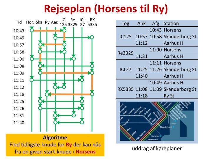 Rejseplan (Horsens til Ry)