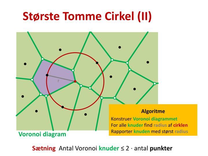Største Tomme Cirkel (II)