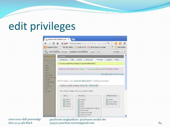 edit privileges