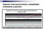 impacto macroecon mico estabilidad monetaria y precios