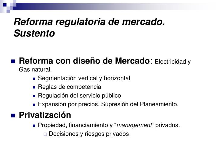 Reforma regulatoria de