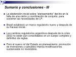 sumario y conclusiones iii