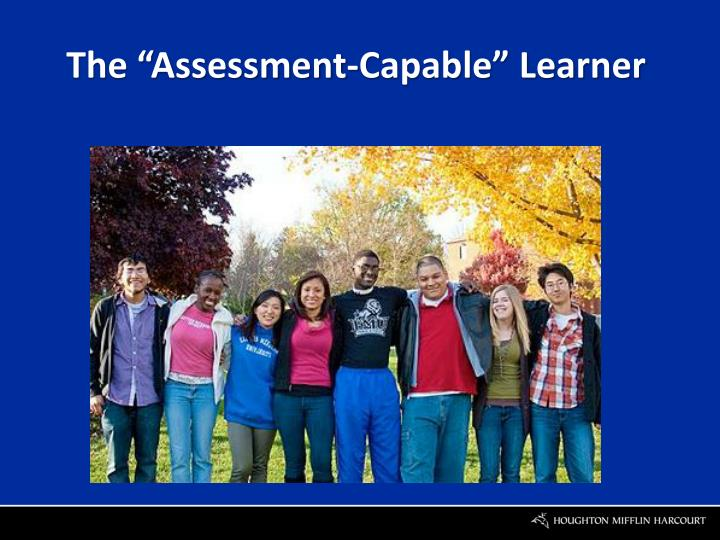 "The ""Assessment-Capable"" Learner"