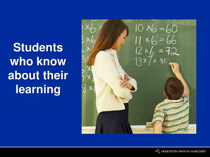 Students who know about their learning