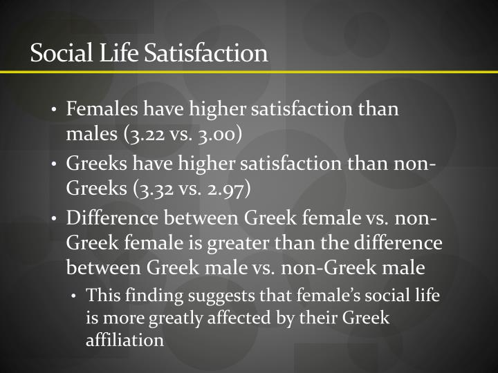 Social Life Satisfaction