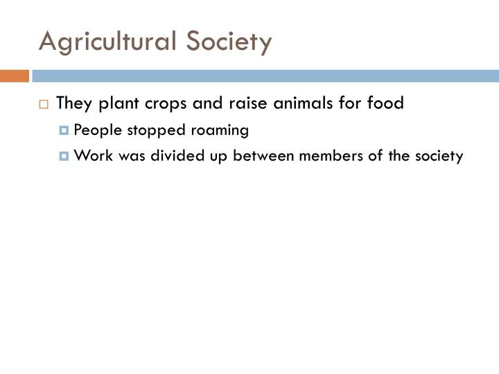 Agricultural Society