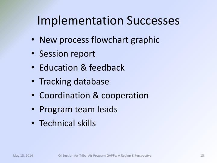 Implementation Successes