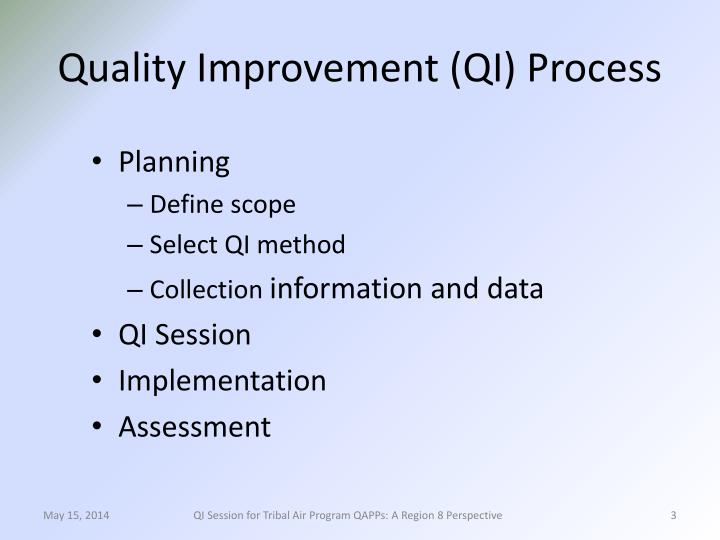 Quality improvement qi process