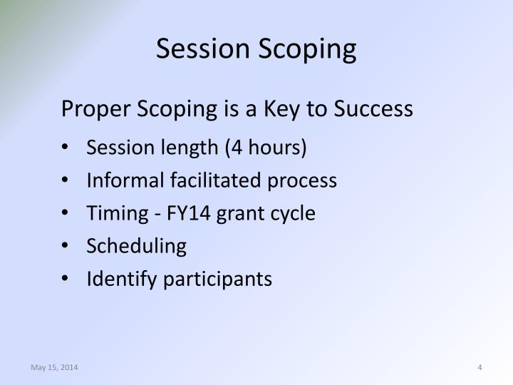 Session Scoping