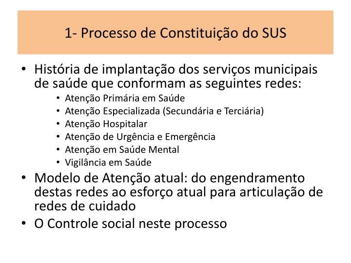 1- Processo de Constituição do SUS