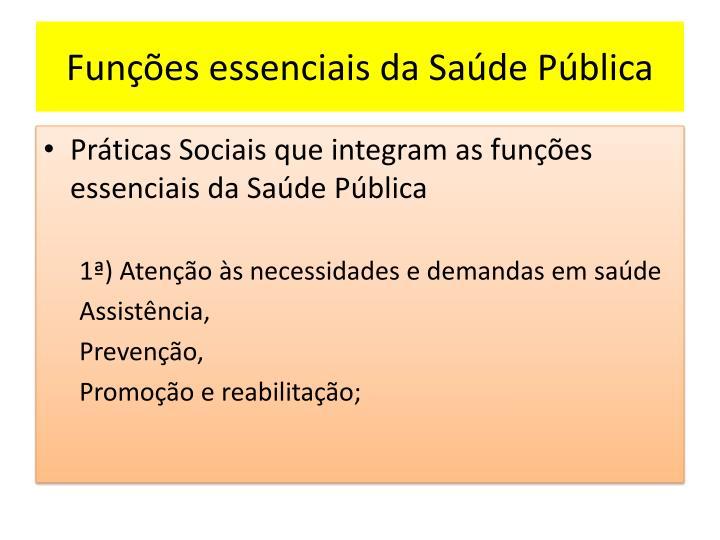 Funções essenciais da Saúde Pública