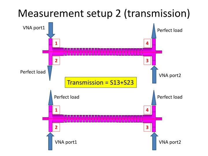 Measurement setup 2 (transmission)