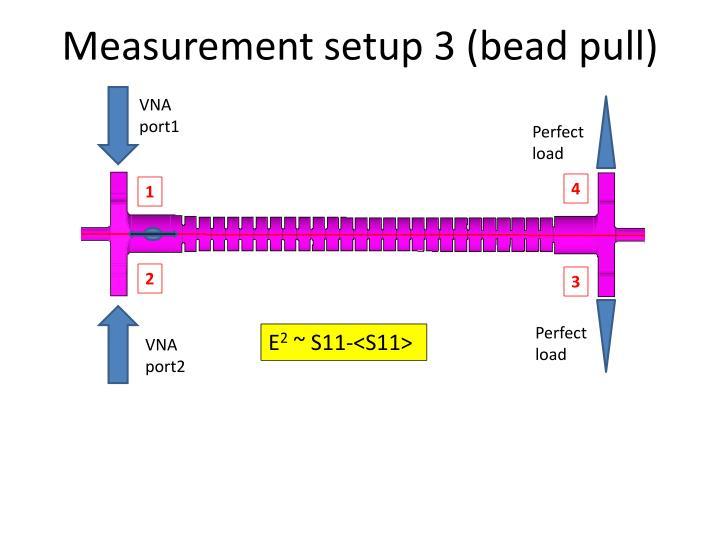 Measurement setup 3 (bead pull)
