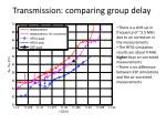 transmission comparing group delay