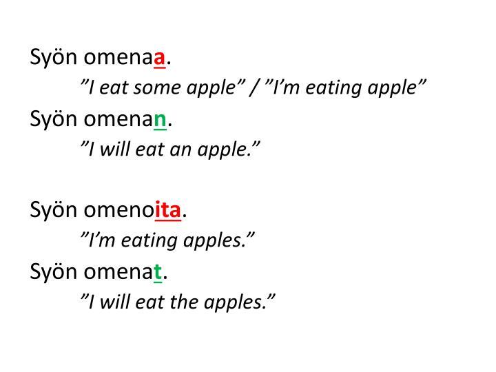 Syön omena