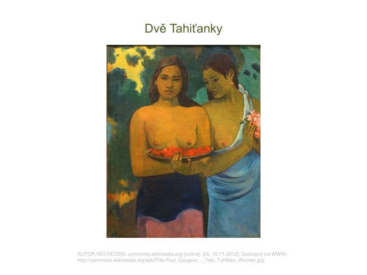 Dvě Tahiťanky