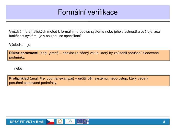 Formální verifikace