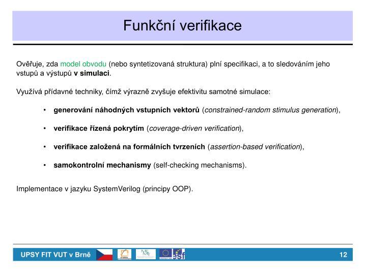 Funkční verifikace