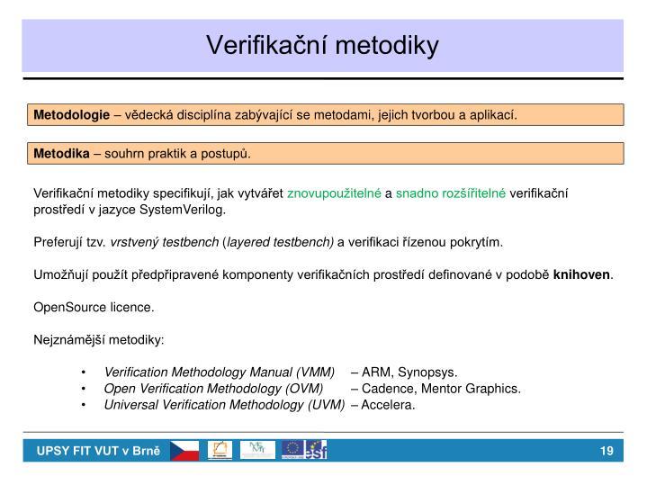 Verifikační metodiky