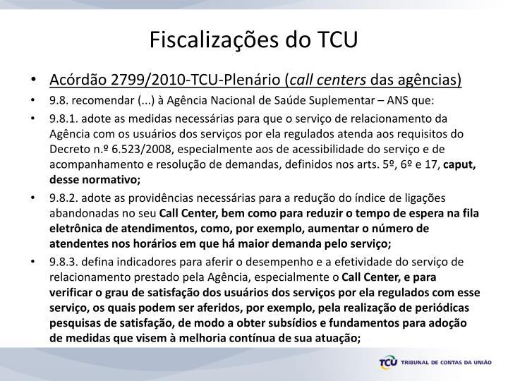 Fiscalizações do TCU